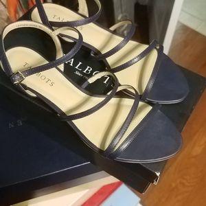 Talbots Navy blue flat sandal